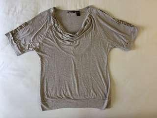 MANGO Greyish Brown Cotton Blouse