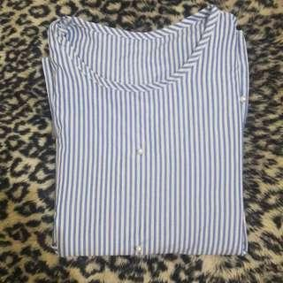Blouse Belly Soft Blue