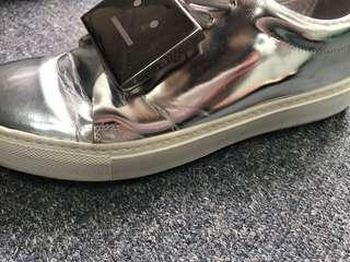 Acne Studios metallic silver trainers