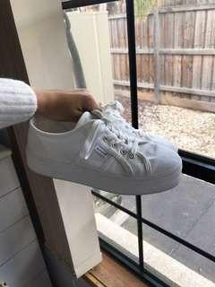 Seed Billie Platform Sneakers White