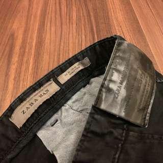 Zara 破壞 工作褲 黑 32 #半價衣服市集