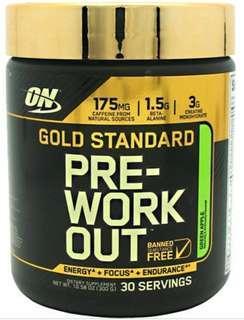 🚚 Optimum Nutrition Gold Standard Pre-Workout Green Apple 300g