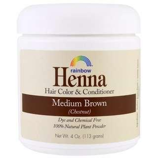 AVAIL Rainbow Research, Henna, Hair Color and Conditioner, Medium Brown (Chestnut), 4 oz (113 g)