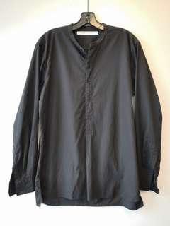 Uniqlo Lemaire black lightweight cotton pullover shirt