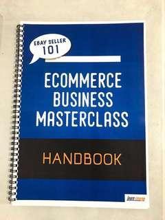 Ecommerce Business Masterclass Handbook - 95% discount.