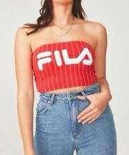FILA x Factorie Cropped Tube Top