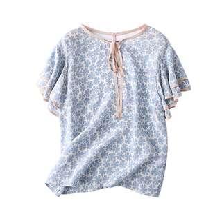 日單正品100%Silk天然蚕絲質地清涼軟糯眞絲衫