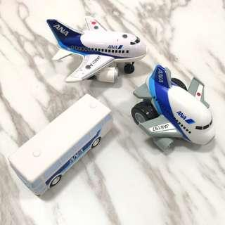 Original ANA Airlines flight aeroplane bus toy