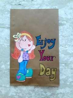 Handmade Paper Gift Bag-Enjoy Your Day
