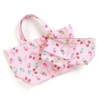 (((清貨特價包順豐自取))) 日本直送 Sanrio My Melody 手提包化妝袋散紙包套裝