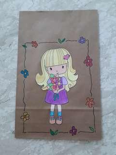 Handmade Paper Gift Bag-Little Flower Girl