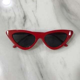 Red Frame Cat Eye Sunglasses