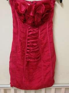 Authentic BEBE red tube dress