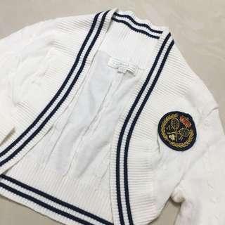 Nicholas & Bears White Knitted Cardigan 白色針織冷衫
