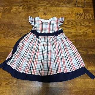 Baby girl checked dress