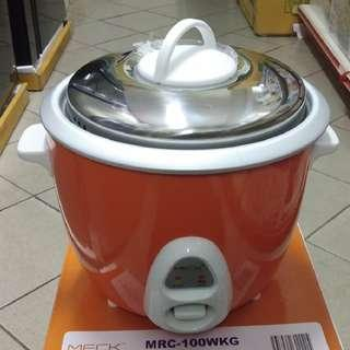 Meck Eletric Rice Cooker - 1.0 Liters (MRC-100WKG)