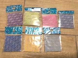 全新夜光摺紙 7包(10張一包)紙鶴 情人節 禮物 手作 5cm brand new craft paper crane
