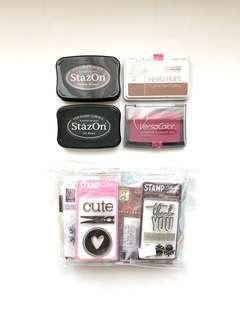 🚚 Acrylic stamps and ink pads set