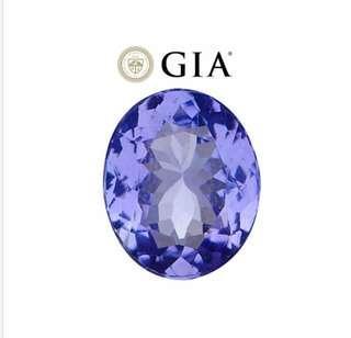 GIA CertifiedTanzanite - VVS1/Flawless Clarity 3.91 ct