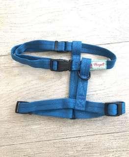 Hoopet狗狗工字型藍色胸背帶狗帶