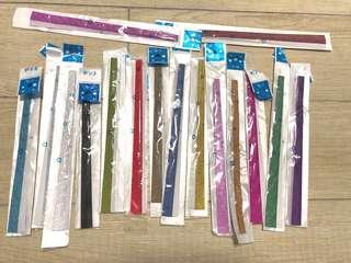 16包 幸運星紙條 摺紙 金粉 paper lucky star paper strips
