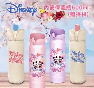 🚚 櫻花季米奇保溫瓶🌸超輕量#304不銹鋼真空保溫瓶500ml(加贈提袋)