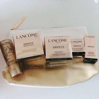 Lancôme Absolue 5pcs set旅行裝-連化妝袋