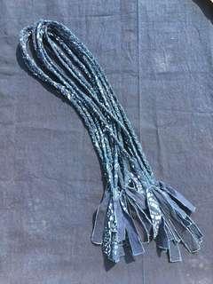 手工 編織 藍染 項鍊 indigo necklace (四股款)