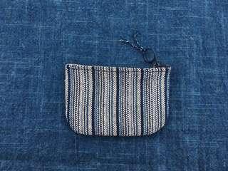 手作古布零錢包 藍階款 handmade kofu walle