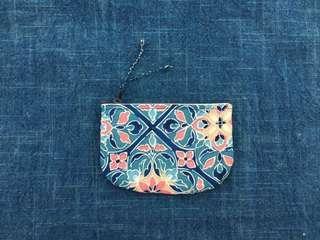 手作古布零錢包 花磚款 handmade kofu wallet