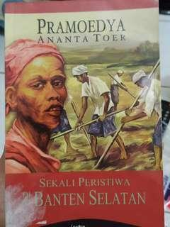 Buku Pramoedya SEKALI PERISTIWA DI BANTEN SELATAN
