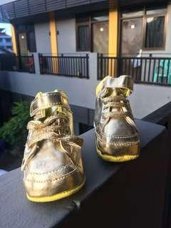 New Gold Baby Shoes