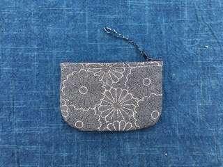 手作古布零錢包 菊花海款 handmade kofu wallet