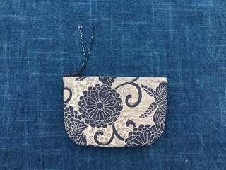 手作古布零錢包 八重菊款 handmade kofu wallet