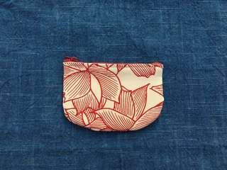 手作古布零錢包 紅葉款 handmade kofu wallet