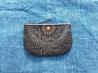 手作古布零錢包 雪花款 handmade kofu wallet
