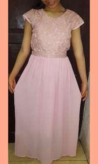 Dress warna peach