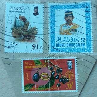🚚 BNSTM. 1992, 1985, 1987 Brunei Stamps.