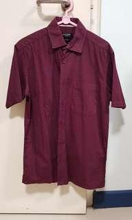 🚚 Pierre Cardin maroon collared shirt