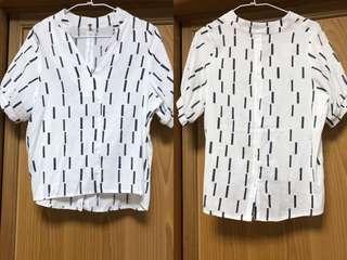 🚚 短袖上衣 棉麻造型T恤
