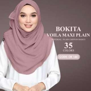 🚚 Bokitta Instant Hijab (Dusty purple)