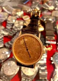 Corum 金幣錶quartz