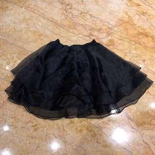 Black organza skirt