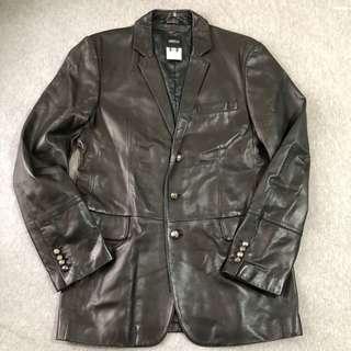 Versus Versace Leather Jacket 男裝皮褸