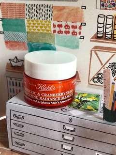 Kiehl's tumeric & cranberry seed energizing radiance mask 14 ml.