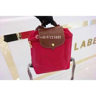 2d00420be13d6 Longchamp Le Pliage Backpack Red 1699 089 545