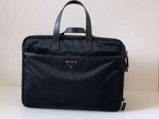 Authentic Prada Nero Tessuto Large Hand Carry Work Bag