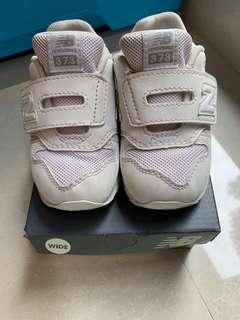 New Balance 男女童 返學 白色 波鞋 運動鞋 373 size 7 sport shoes