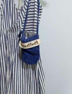 Fabric embroidered sling bag