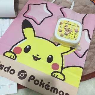 2019年 比卡超 伊貝 pokemon 小物盒